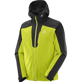 Salomon Nebula 2L Jacket Herren black/lime punch